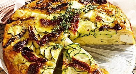 Courgette & Feta Frittata - Wicklow Rapeseed Oil