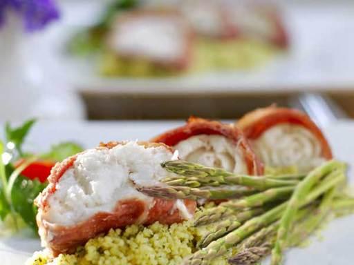Monkfish in Parma Ham & Asparagus