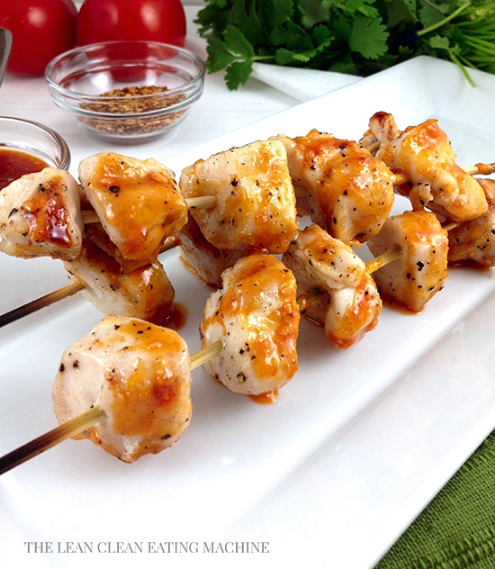 Healthy Chilli Chicken Skewers