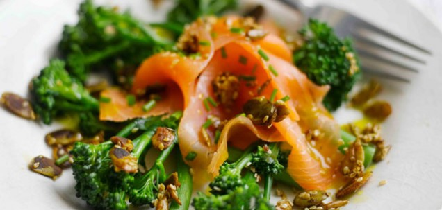 Smoked Salmon & Broccoli Salad