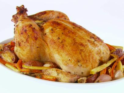 Garlic-Roasted Chicken & Root Vegetables