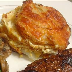 Three Cheese Garlic Scalloped Potatoes