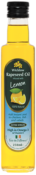Wicklow Rapeseed Oil with Lemon 250 ml.